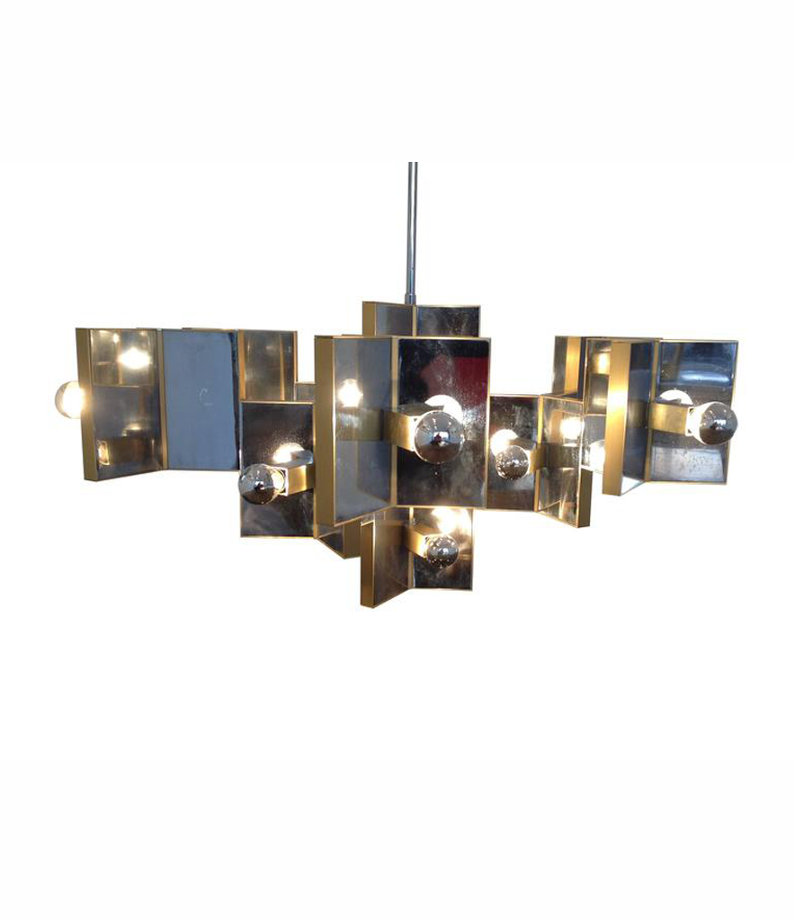 LARGE SCIOLARI TWENTY-ONE-LIGHT CHANDELIER