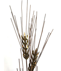 LARGE 1970S CURTIS JERE FLOOR STANDING BRASS AND METAL WHEAT SHEAF SCULPTURE
