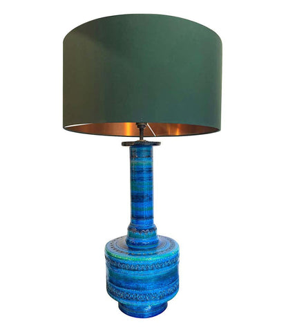 "LARGE AND RARE 1960S CERAMIC BITOSSI ""RIMINI BLUE"" LAMP DESIGNED BY ALDO LONDI"