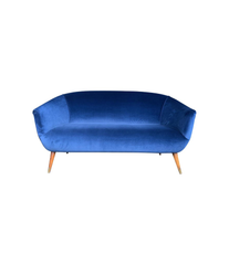 LOVELY ITALIAN 1950S TWO-SEAT COCKTAIL SOFA IN THE STYLE OF GIO PONTI