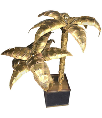 MAISON JANSEN ORIGINAL PALM TREE TABLE LAMP