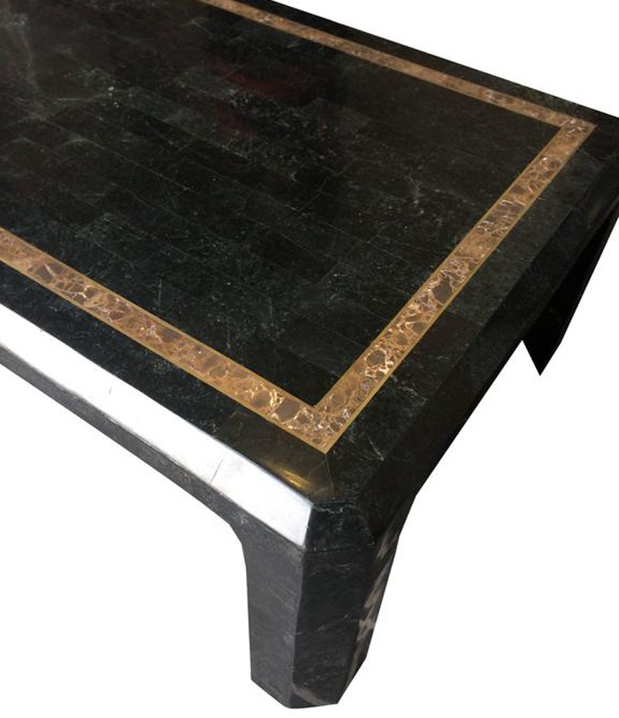 MAITLANDSMITH TESSELLATED MARBLE AND SHELL COFFEE TABLE Ed Butcher