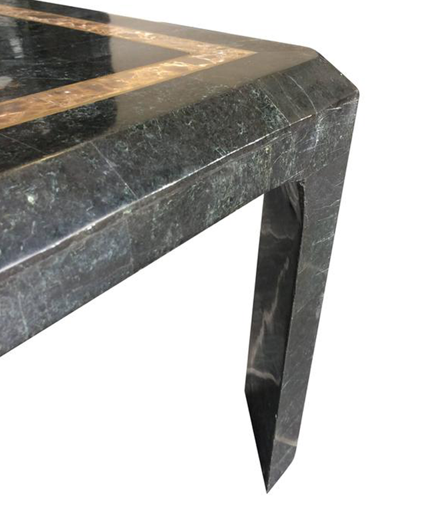 Maitland Smith Tessellated Marble And Shell Coffee Table