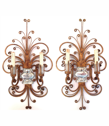 Pair of Maison Bagues wall sconces