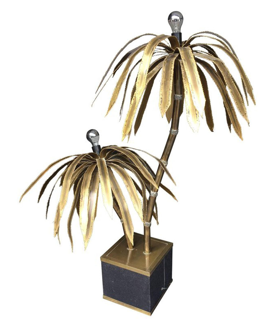 Maison jansen double palm tree floor lamp ed butcher maison jansen double palm tree floor lamp aloadofball