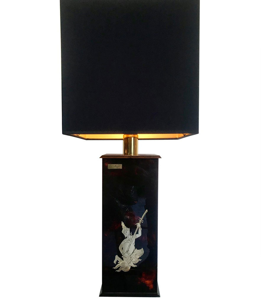 PAIR OF ERIC MAVILLE FAUX TORTOISESHELL LAMPS