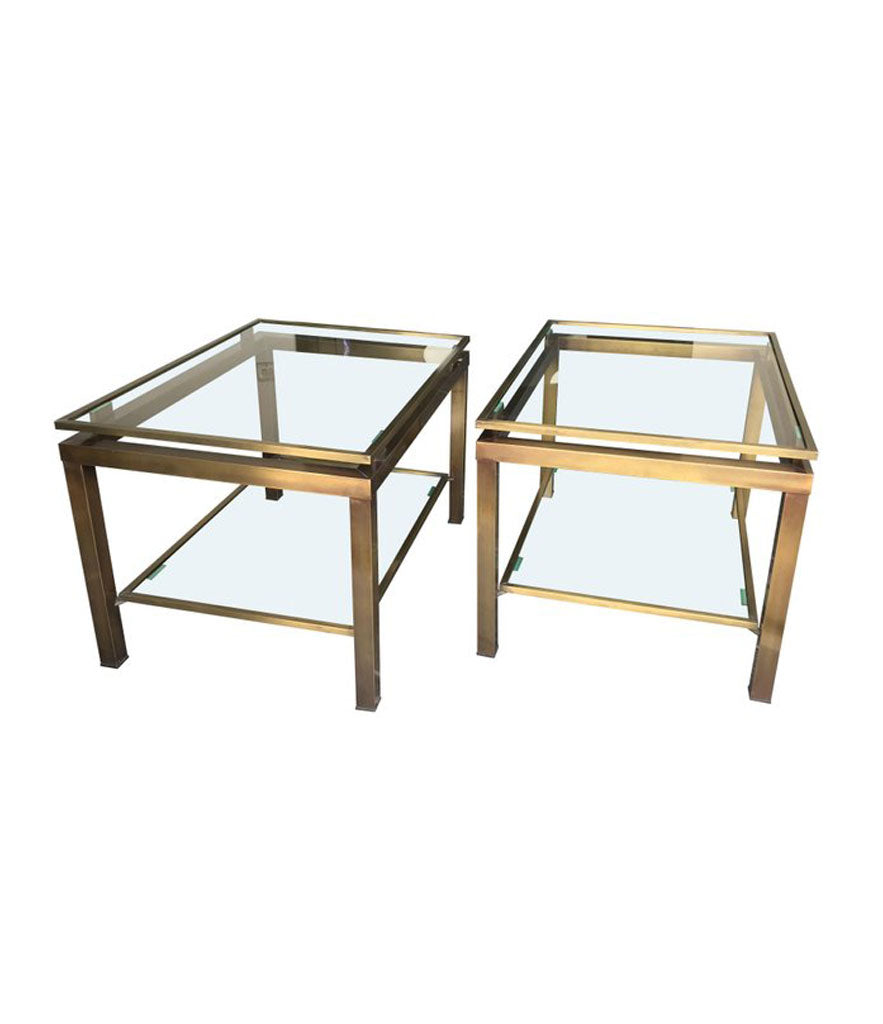 PAIR OF GUY LEFEVRE SIDE TABLES
