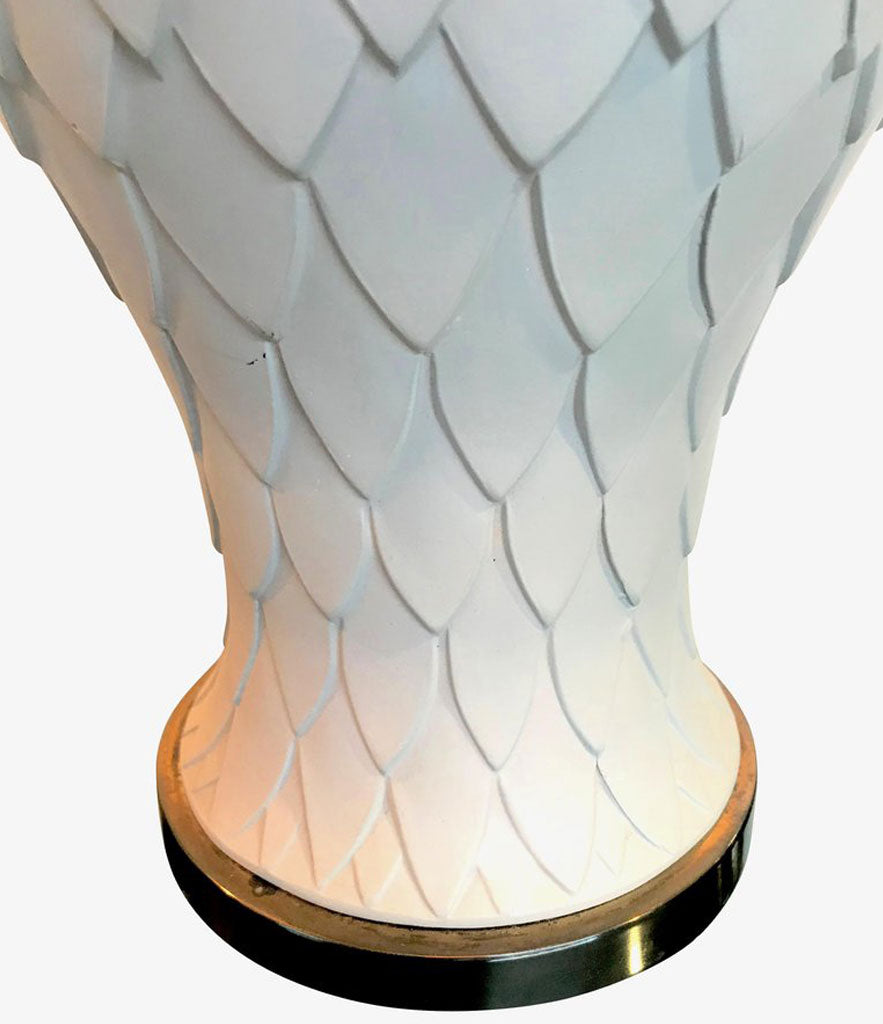 PAIR OF LARGE ITALIAN CERAMIC ARTICHOKE LAMPS