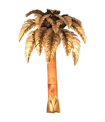 PAIR OF MAISON JANSEN PALM TREE WALL LIGHTS