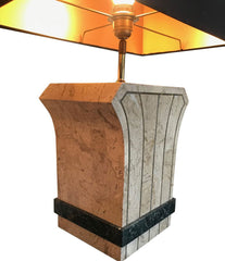 PAIR OF MAITLAND SMITH TESSELLATED STONE LAMPS