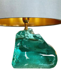 PAIR OF ROCK GLASS LAMPS IN THE STYLE OF MAX INGRAND