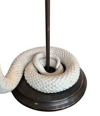 PAIR OF TOMMASO BARBI CERAMIC COBRA LAMPS