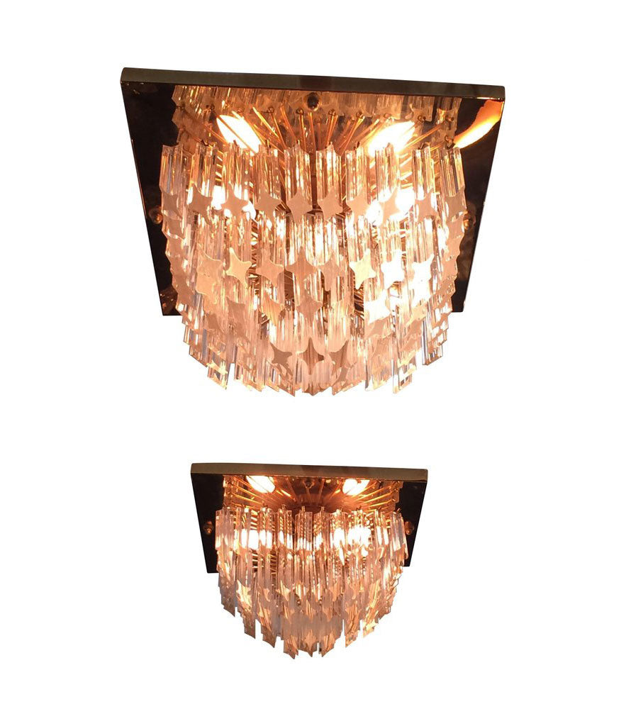PAIR OF VENINI CRYSTAL CHANDELIERS ON GOLD-PLATED FRAMES  sc 1 st  Ed Butcher - Antiques & PAIR OF VENINI CRYSTAL CHANDELIERS ON GOLD-PLATED FRAMES u2013 Ed Butcher