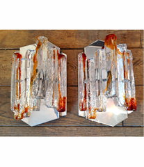 PAIR OF POLIARTE WALL SCONCES