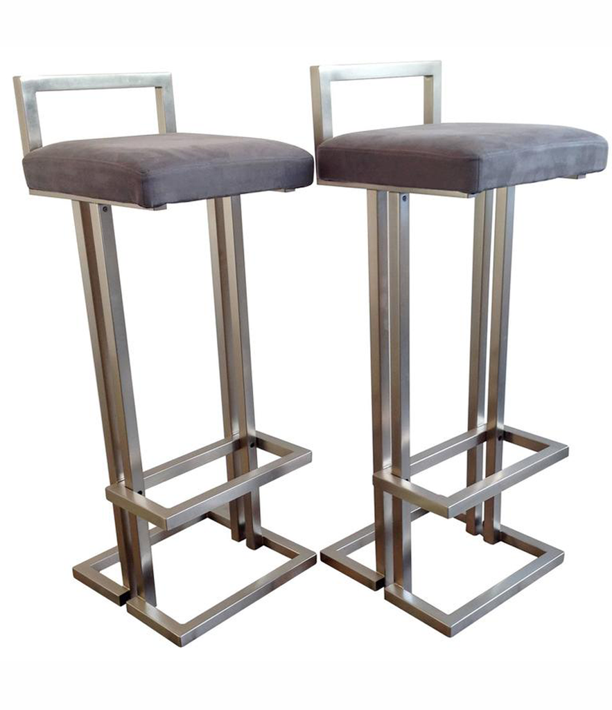Pleasing A Pair Of Brushed Steel Bar Stools Andrewgaddart Wooden Chair Designs For Living Room Andrewgaddartcom
