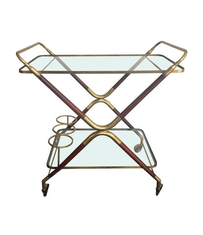 PAIR OF CESARE LACCA ITALIAN BAR CARTS