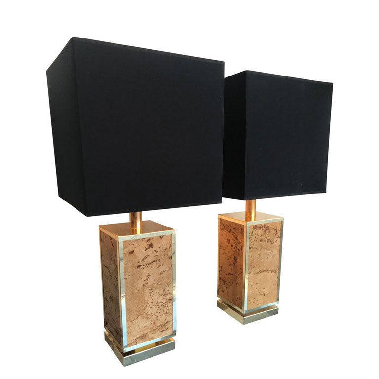 PAIR OF ITALIAN CORK LAMPS