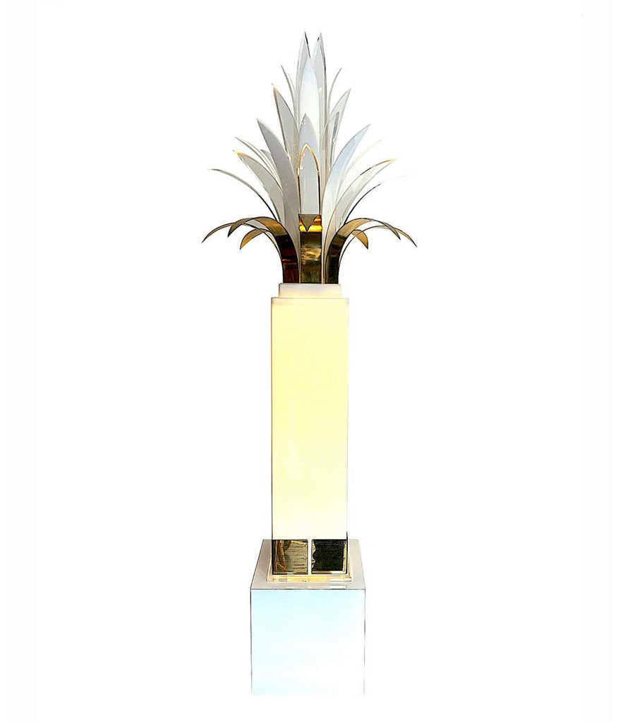RARE STUNNING 1970S PALM TREE FLOOR LAMP BY PETER DOFF FOR BERGER DESIGNS
