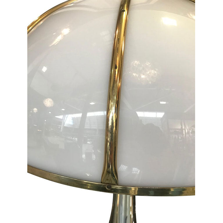 "RARE GABRIELLA CRESPI SILVER PLATED AND BRASS ""FUNGO"" LAMP"