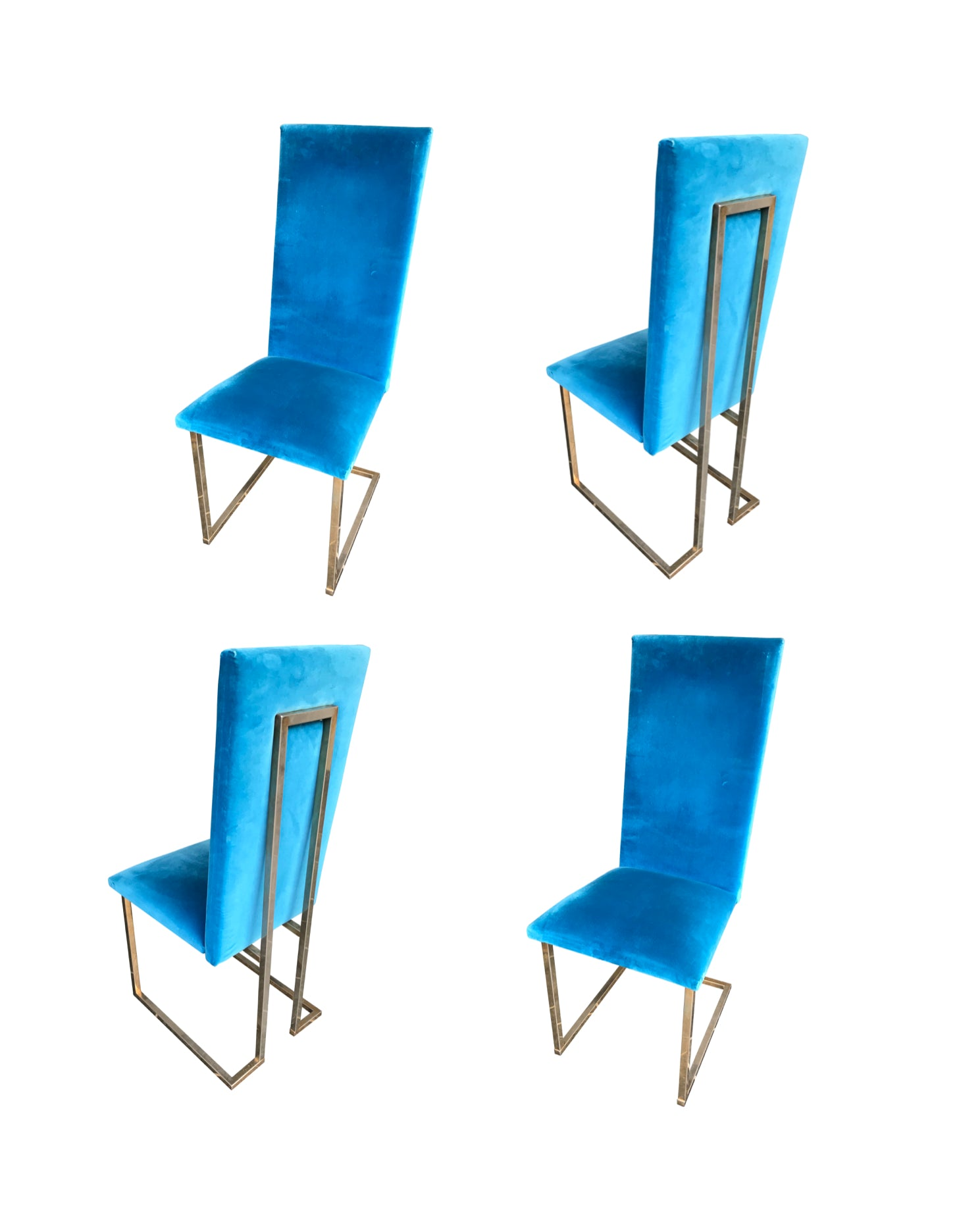 A SET OF 4 WILLY RIZZO DINING CHAIRS