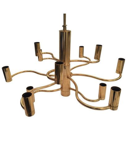 SCIOLARI BRASS CHANDELIER