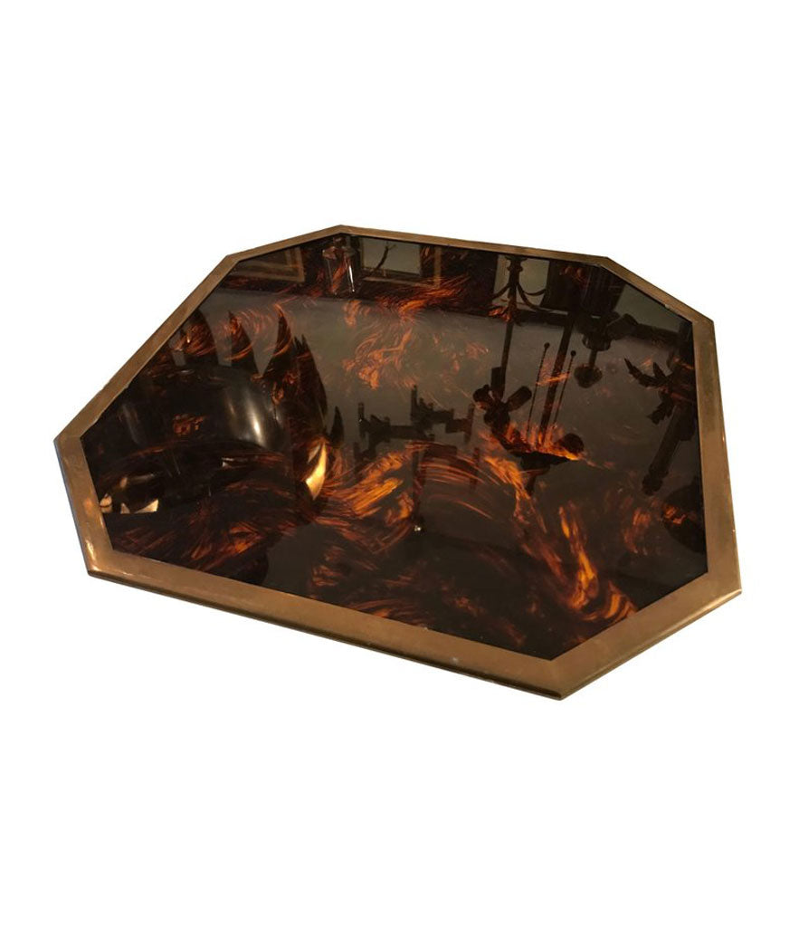 SET OF SIX CHRISTIAN DIOR HOME FAUX TORTOISE SHELL PLACE MATS
