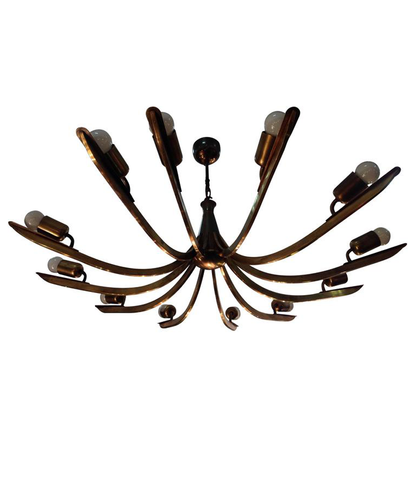 STILNOVO BRASS CHANDELIER