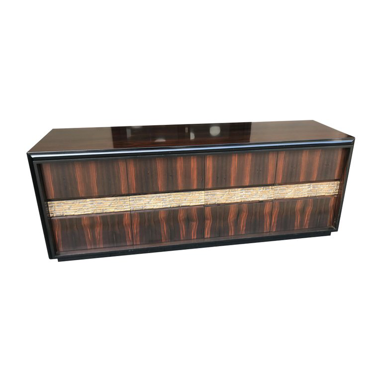 STUNNING LUCIANO FRIGERIO PALISANDER AND BRONZE CREDENZA