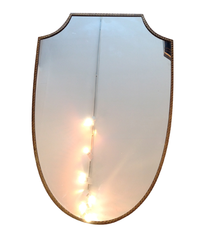 AN ITALIAN SHIELD MIRROR
