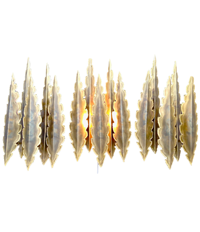Holm Sorensen brutalist wall sconces in brass