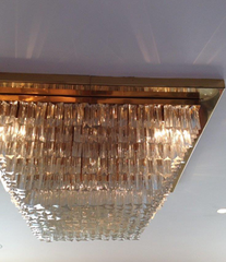 Large Venini Murano crystal chandelier