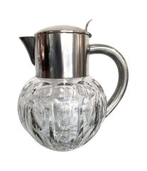 WMF SILVER PLATED CRYSTAL LEMONADE / COCKTAIL JUG ENGRAVED WITH CIRCLE MOTIFS