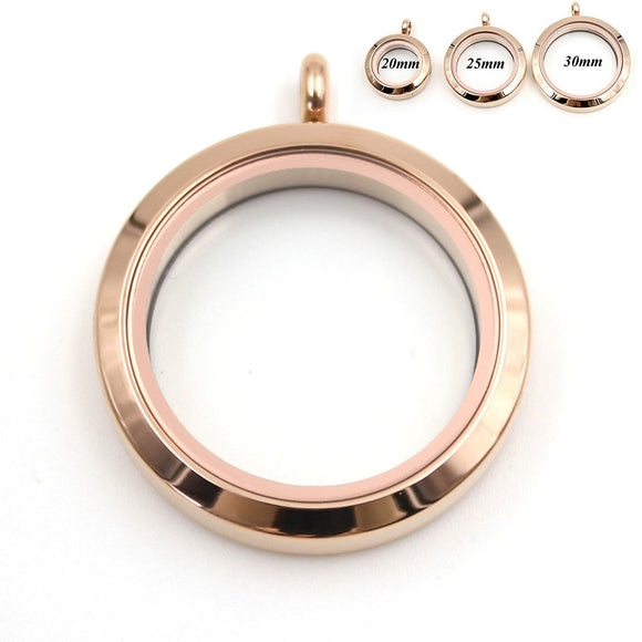Round Rose Gold Plain