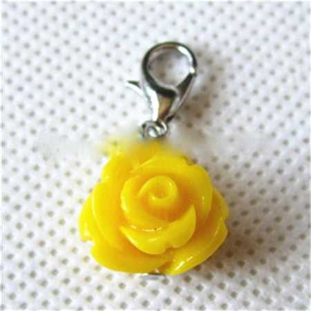 Yellow Rose Dangle
