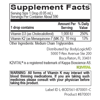 Vitamin D3 with K2 Liquid-BodyLogicMD-shop.bodylogicmd.com