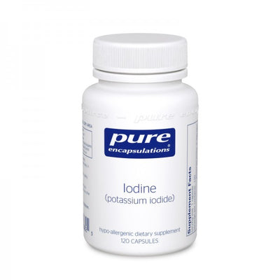 Iodine (Potassium Iodide) 120's-Pure Encapsulations-shop.bodylogicmd.com