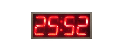 4-Digit Slim Pace Clock Amber LED Digits (SP-1401.S) - Refurbished