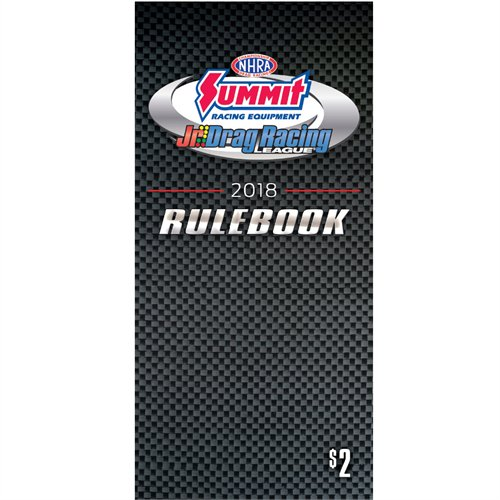 2018 NHRA Jr. Racer Rule Book
