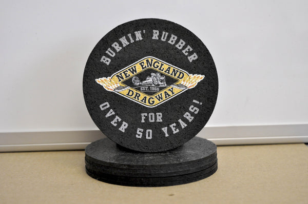 Burnin' Rubber for 50 Years Coasters (2-Pack)