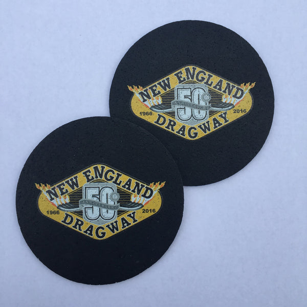 50th Anniversary Coaster 2-Pack (Made from recycled tires!)