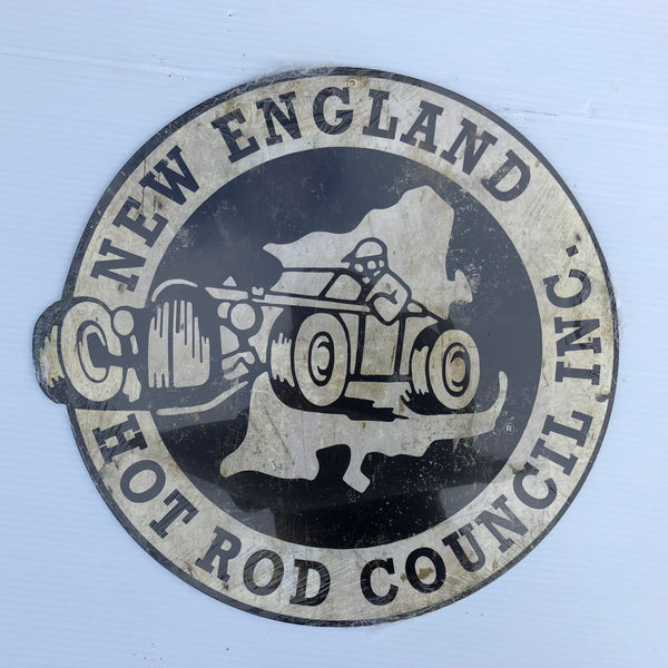 Hot Rod Council Logo Metal Sign