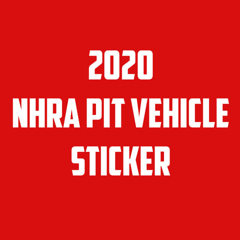 2020 Auxiliary Pit Vehicle Sticker