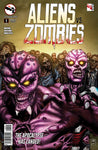 Aliens vs. Zombies #1 Aliens Zombified  Eerie Scary Comic Book Cover Art