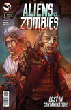 Aliens vs. Zombies #3 Ben Franklin Wife Zombified Scary Horror Comic Book Cover Art