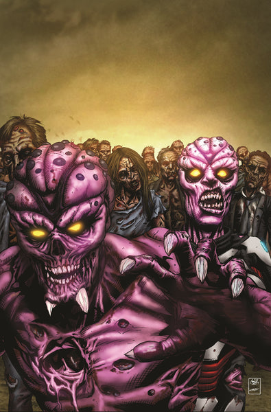 Aliens vs. Zombies #1 - Cover B Metal Comic