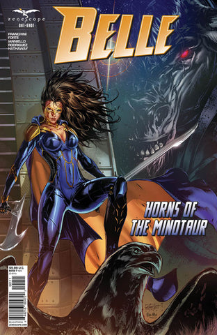 Belle: Horns of the Minotaur. Cover A. Caanan White. Ula Mos. Zenescope. 2020.