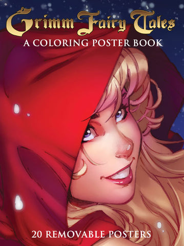Grimm Fairy Tales Coloring Poster Book