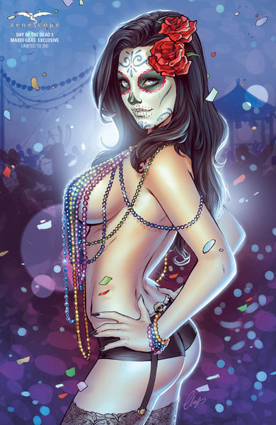 Day of the Dead #2 - Cover E Elias Chatzoudis Mardi Gras Mary Medina Naughty Beads