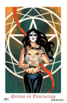 Day of the Dead #6 D Manuel Preitano Mary Medina Pentagram Queen of Pentacles Tarot Card