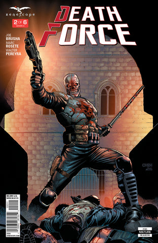 Death Force #2 Shot Gun Night Stick City Rick Murphy Defeated Thugs Blood
